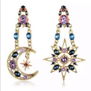Jewelry - Out Of This World Sun & Moon Boho Earrings